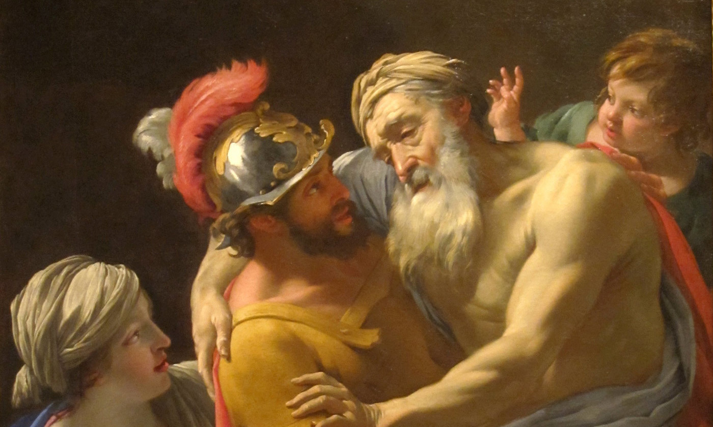 <p><em>Aeneas and his Father Fleeing Troy</em> by Simon Vouet c 1635. <em>San Diego Museum of Art/Wikipedia</em></p>