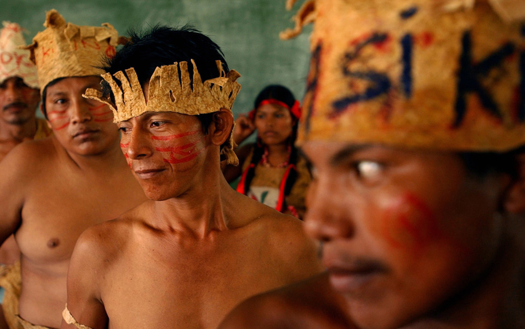 Header mayagna tribespeople