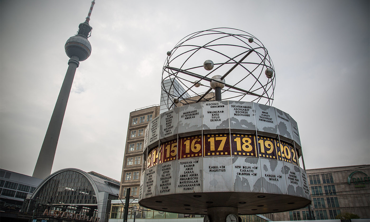 <p>The World Clock in Alexanderplatz, Berlin. <em>Photo by Tony Webster/Flickrov</em></p>