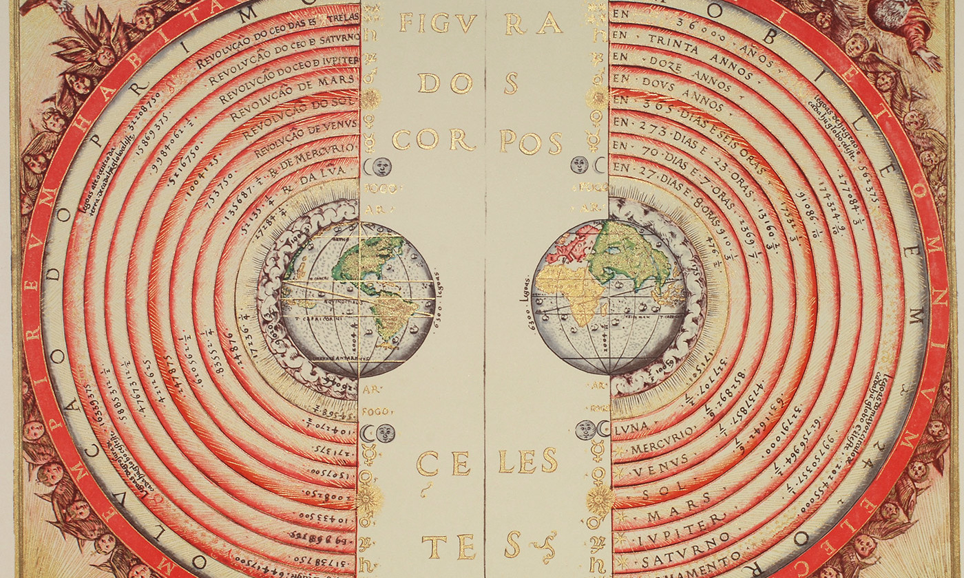 <p>The Ptolemaic Geocentric system. <em>Photo courtesy Wikimedia</em></p>