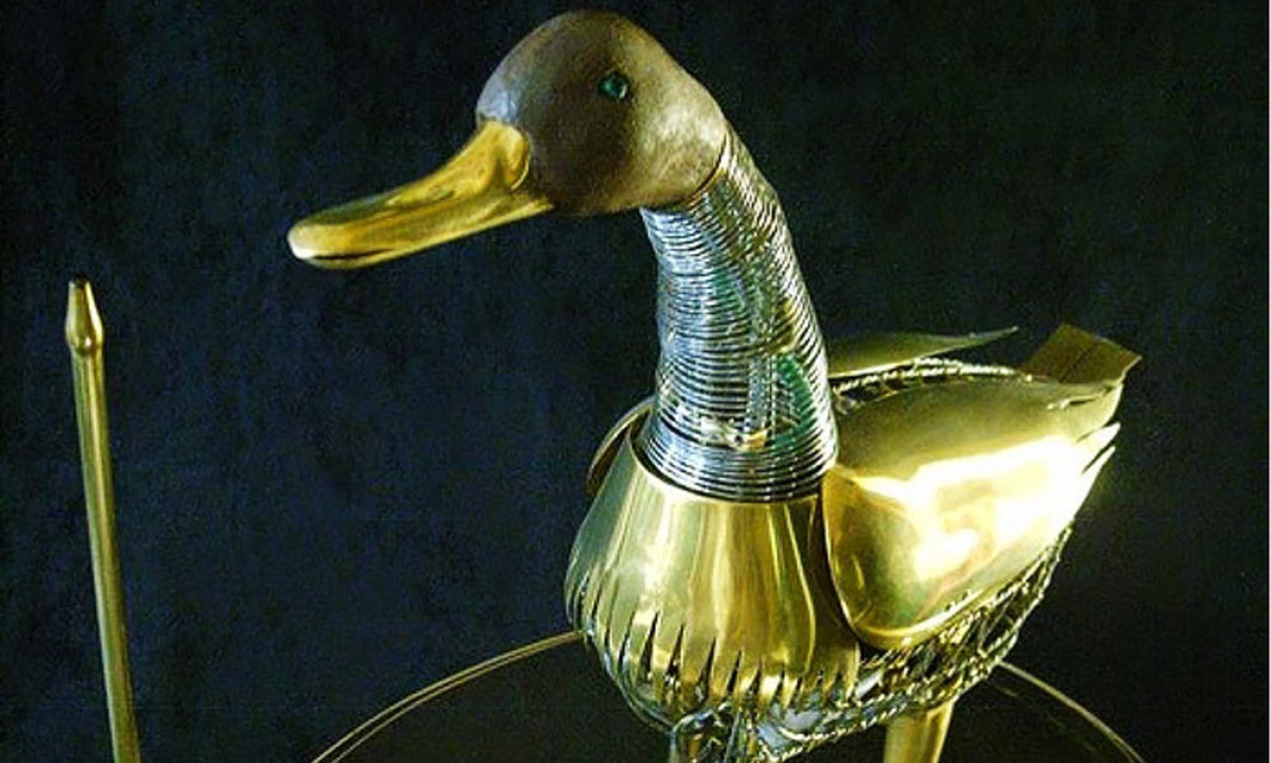<p>A replica of Jacques de Vaucanson's digesting duck automaton. <em>Courtesy the Museum of Automata, Grenoble, France </em></p>