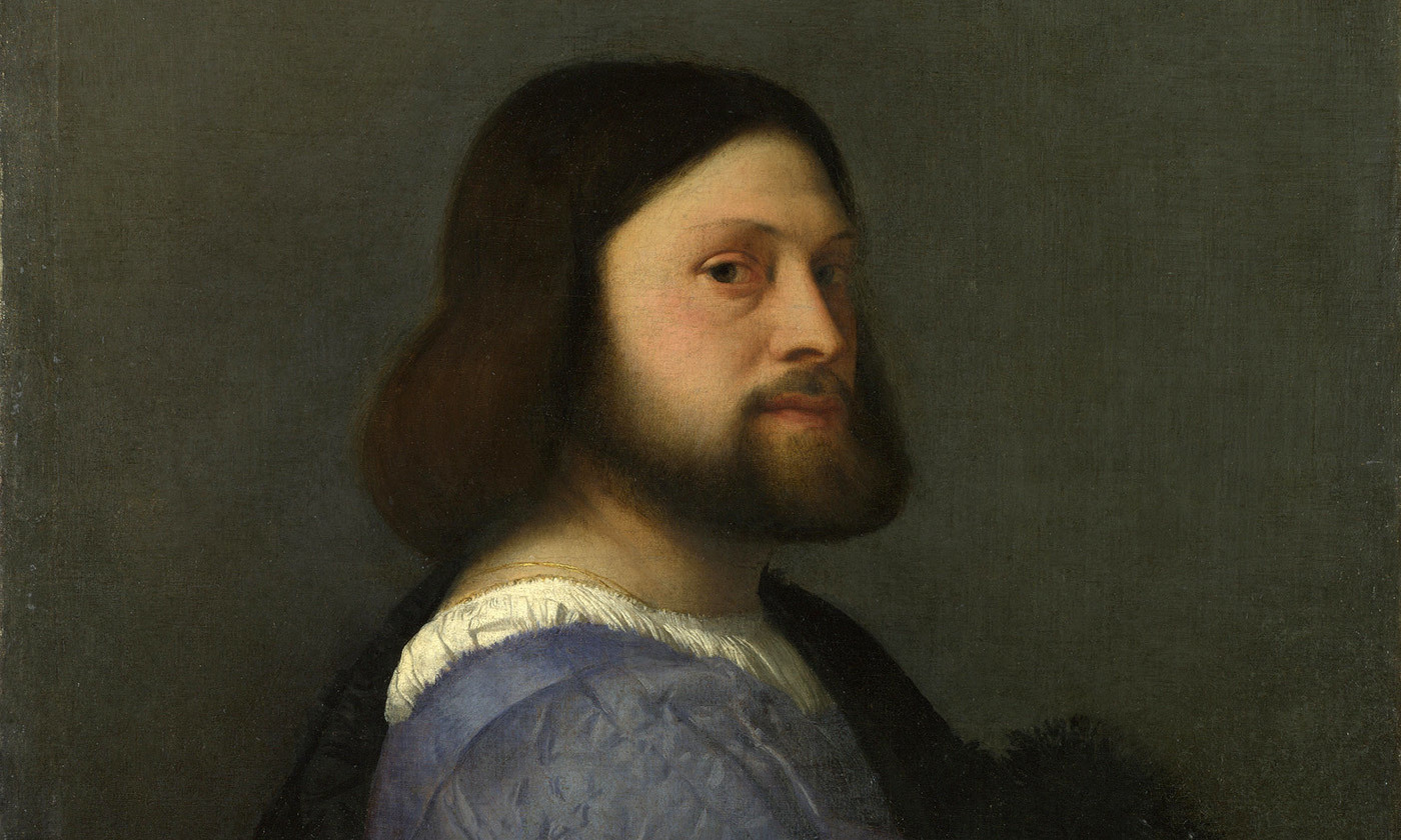 <em>Portrait of a  Man with a Quilted Sleeve</em>, Titian, <em>c</em>1509. <em>Courtesy Wikipedia/National Gallery, London.</em>