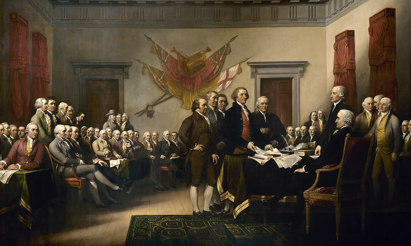 america s declaration of independence was pro immigrant ideas <em>the declaration of independence< em> by john trumbull 1819