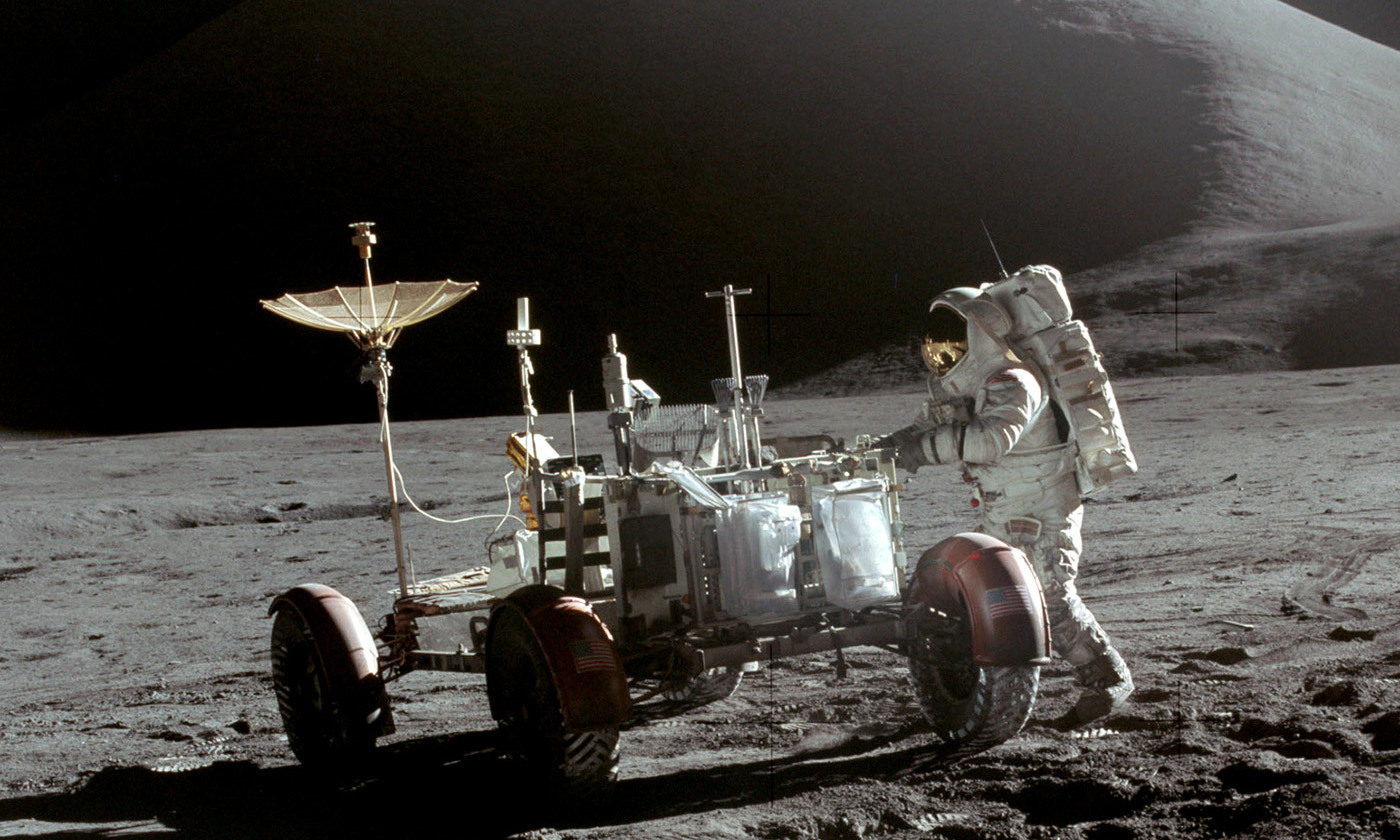 Not faking it. From the Apollo 15 mission. <em>Photo NASA</em>
