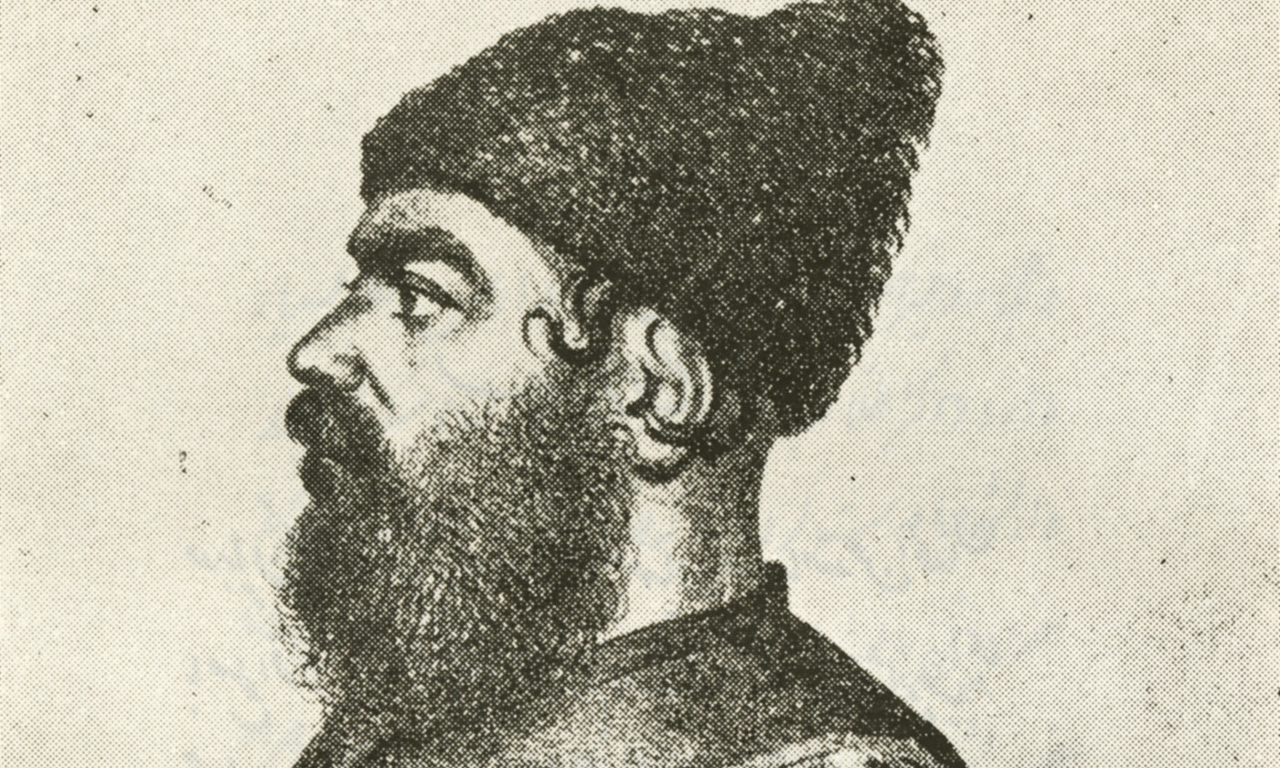 A drawing of Mirza Salih in later life. <em>Photo courtesy the author</em>