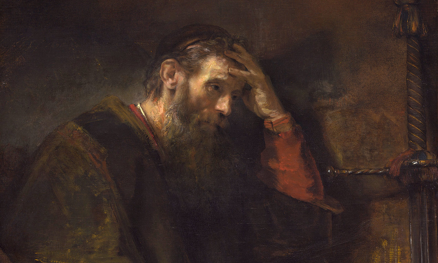 <p>Detail from <em>The Apostle Paul</em> by Rembrandt van Rijn (<em>c</em>1675). <em>Courtesy National Gallery of Art/Wikipedia</em></p>