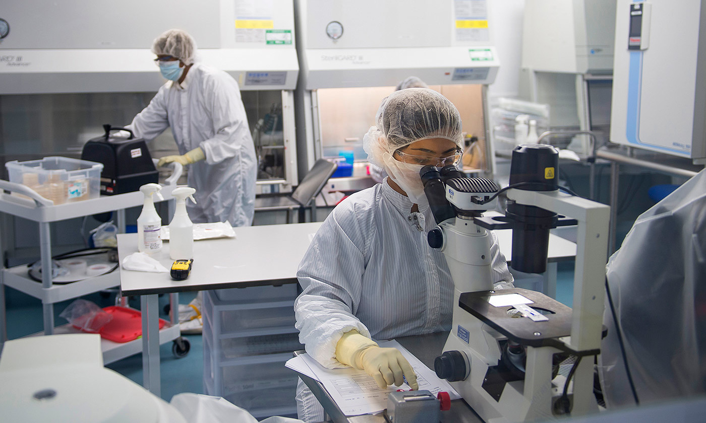 Over-hyped. A biotech lab. <em>Photo by Rick Friedman/Getty</em>