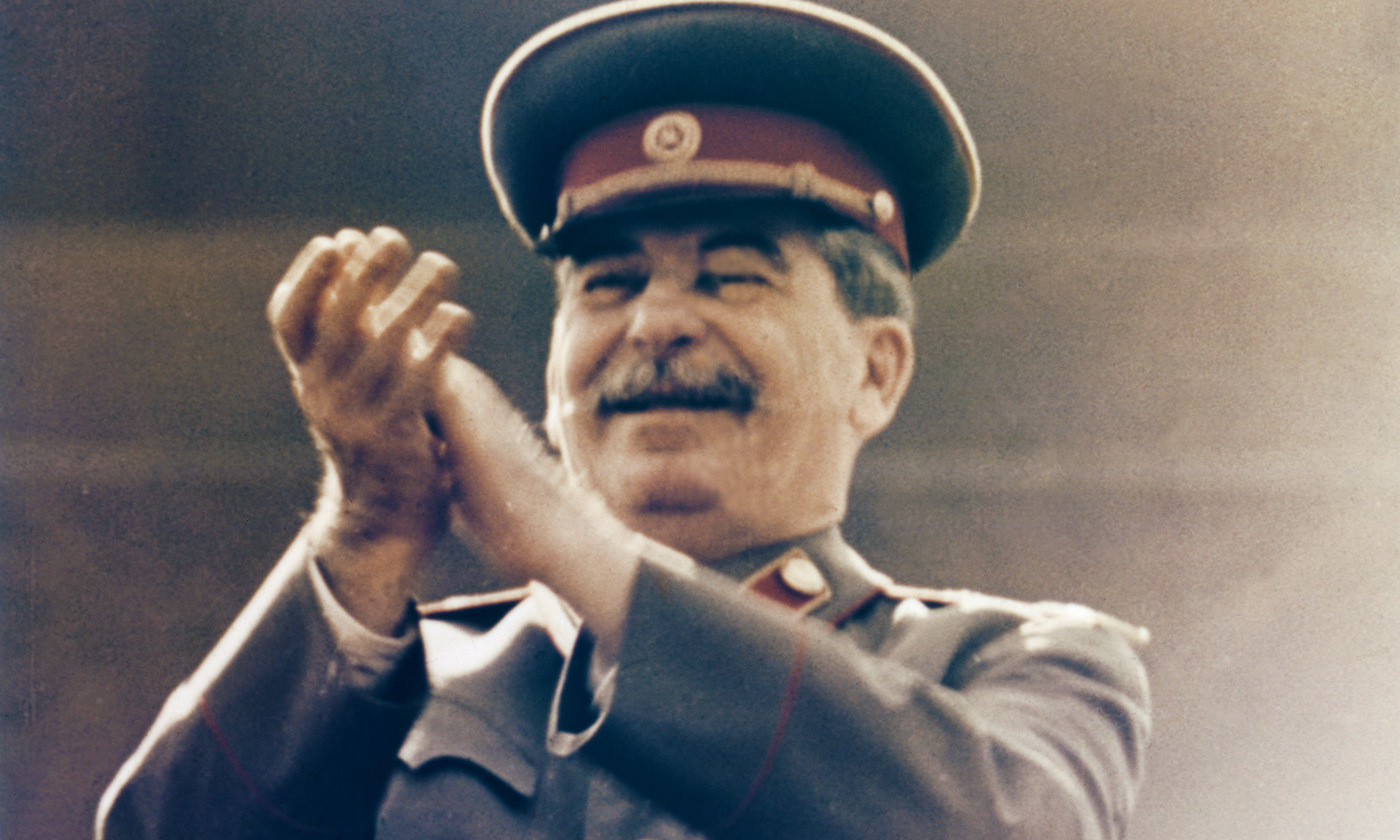 <p>Ha ha ha …very good. Joseph Stalin in 1949. <em>Photo by Sovfoto/Getty</em></p>