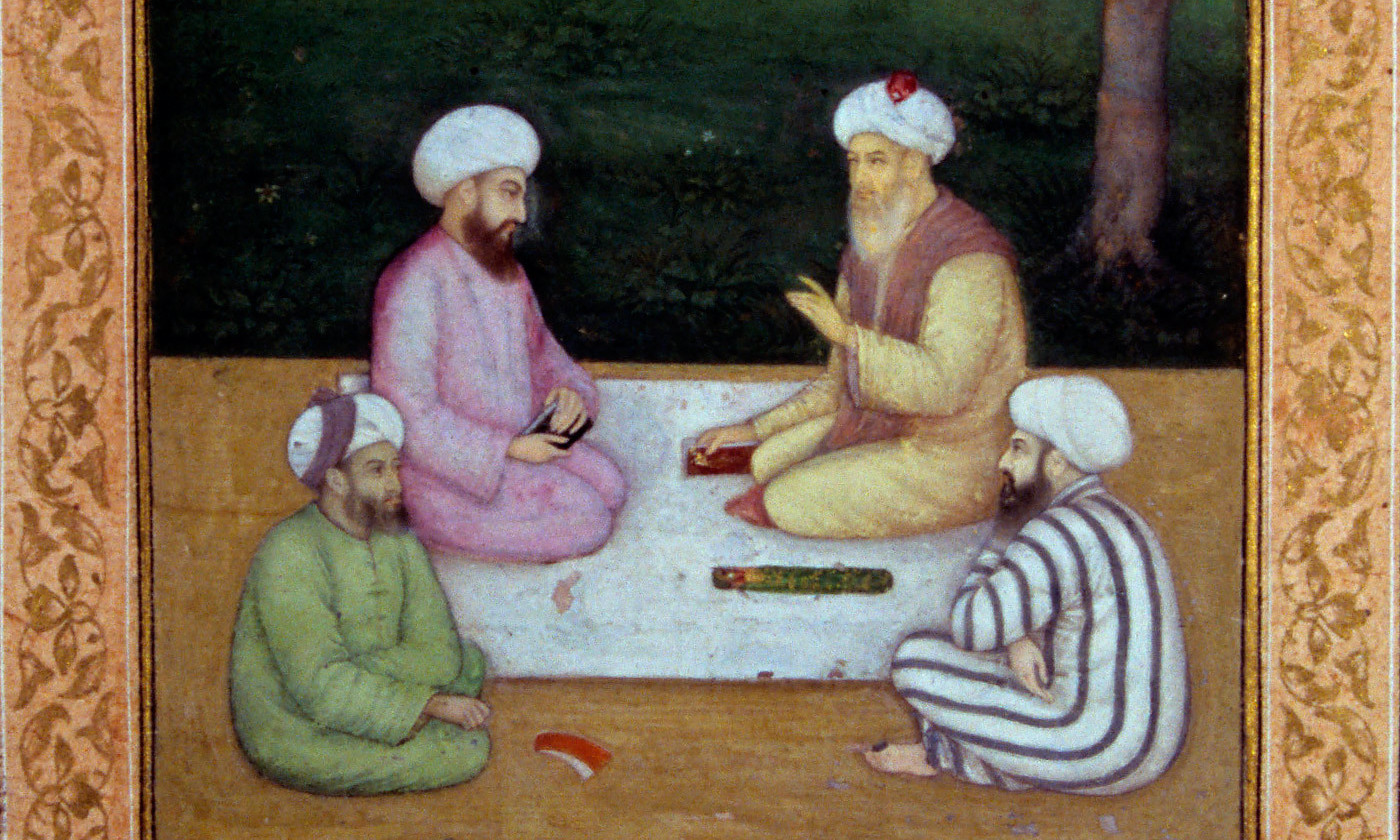 <p>Detail from a miniature painting of Sufis, 1750, National Museum, New Delhi, India. <em>Photo by Getty</em></p>