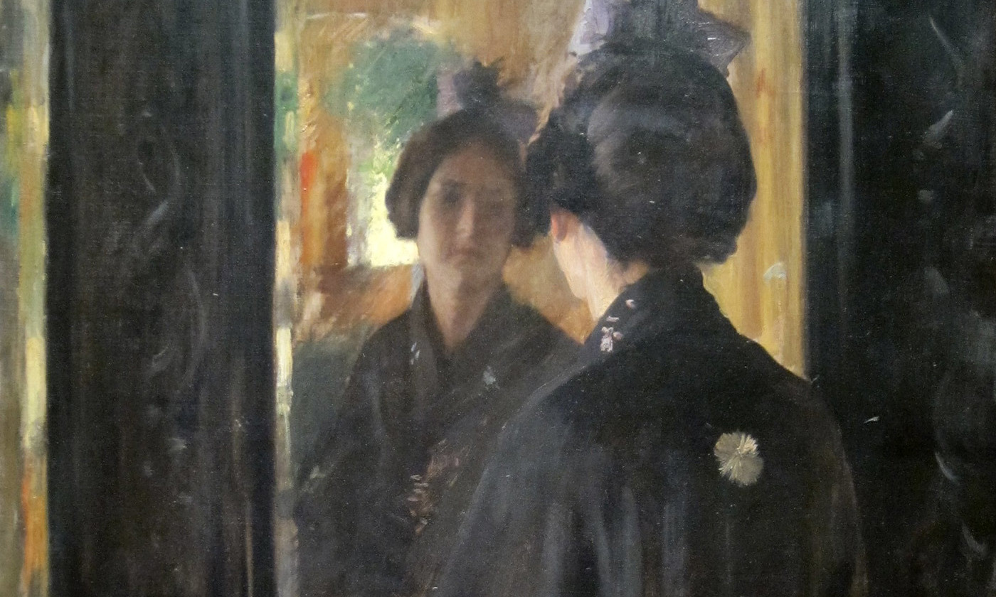 <p><em>The Mirror</em> (<em>c</em>1900) by William Merritt Chase. <em>Courtesy Cincinnati Art Museum/Wikipedia</em></p>