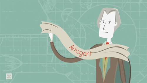 Card frank lloyd wright arrogant main