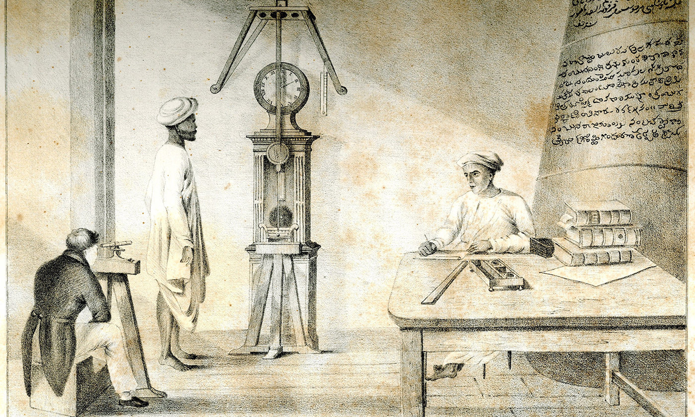 <p>Inside the Madras Observatory in 1827. <em>Photo courtesy Wikipedia</em></p>