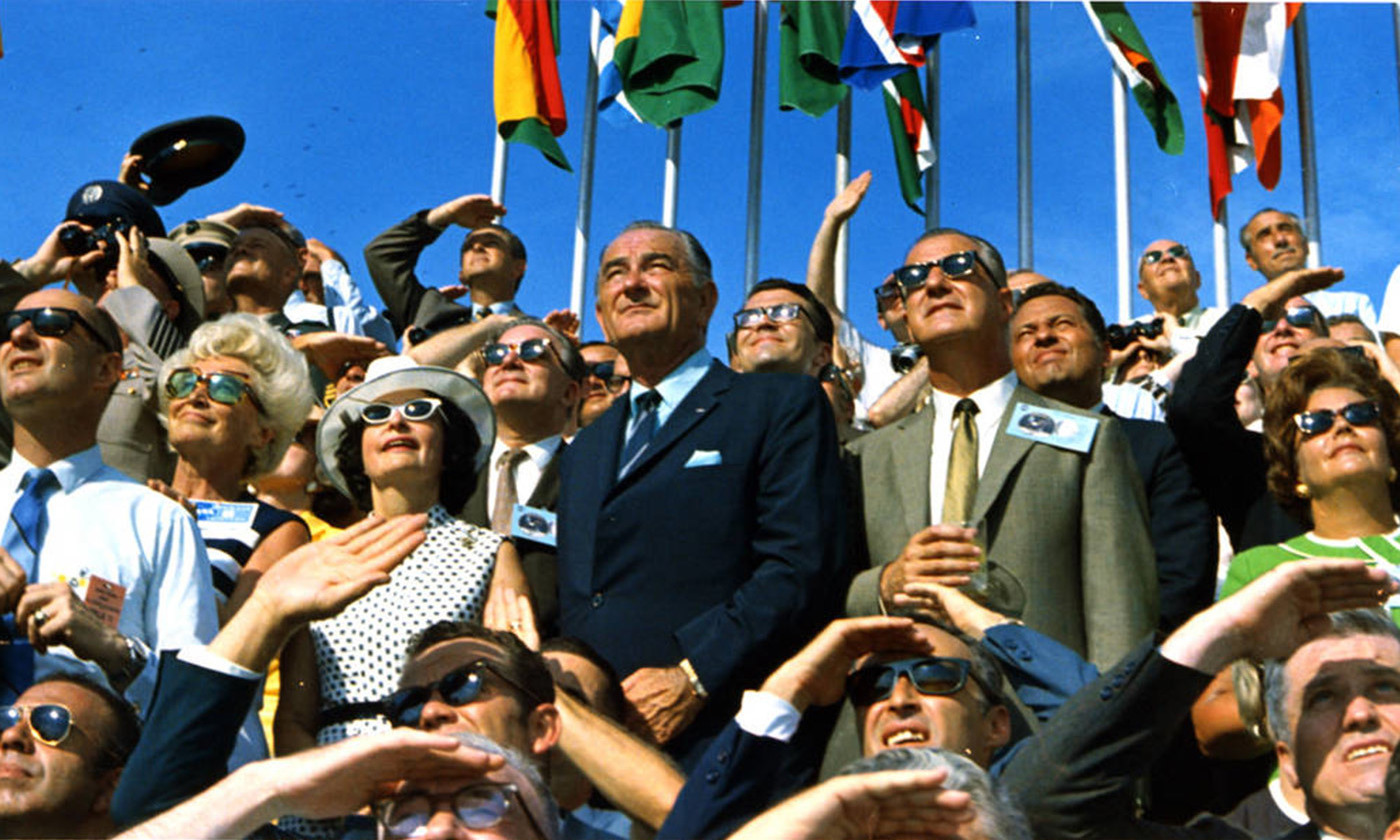 <p>Watching the launch of Apollo 11, 16 July 1969. <em>Image courtesy NASA</em></p>