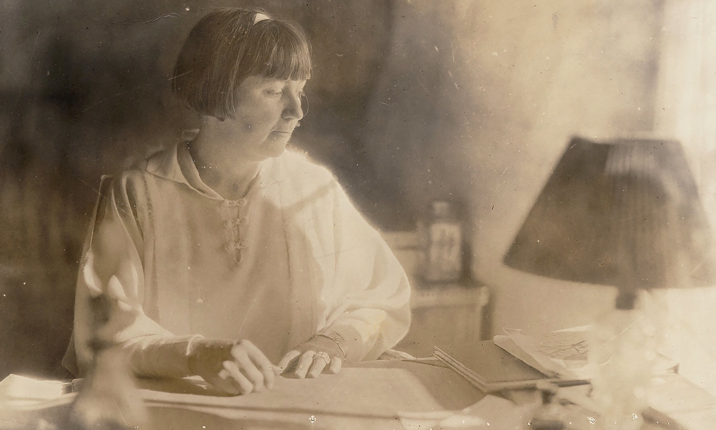 "<p>Mabel Dodge Luhan, photographed <em>c</em>1920, wrote the first subjective account of a peyote trip from a female perspective. <em>Courtesy </em><a href=""https://beinecke.library.yale.edu/digital-collections/digital-collections-beinecke-library"" rel=""""><em>Beinecke Rare Book and Manuscript Library, Yale University</em></a></p>"