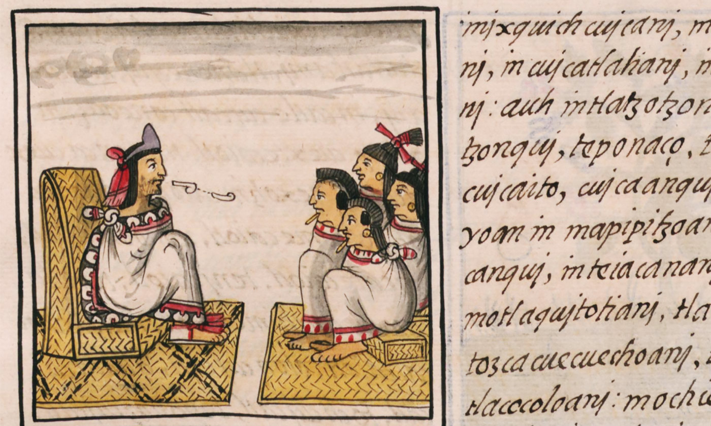 Detail from the Florentine Codex, late 16th C. <em>Courtesy the World Digital Library</em>