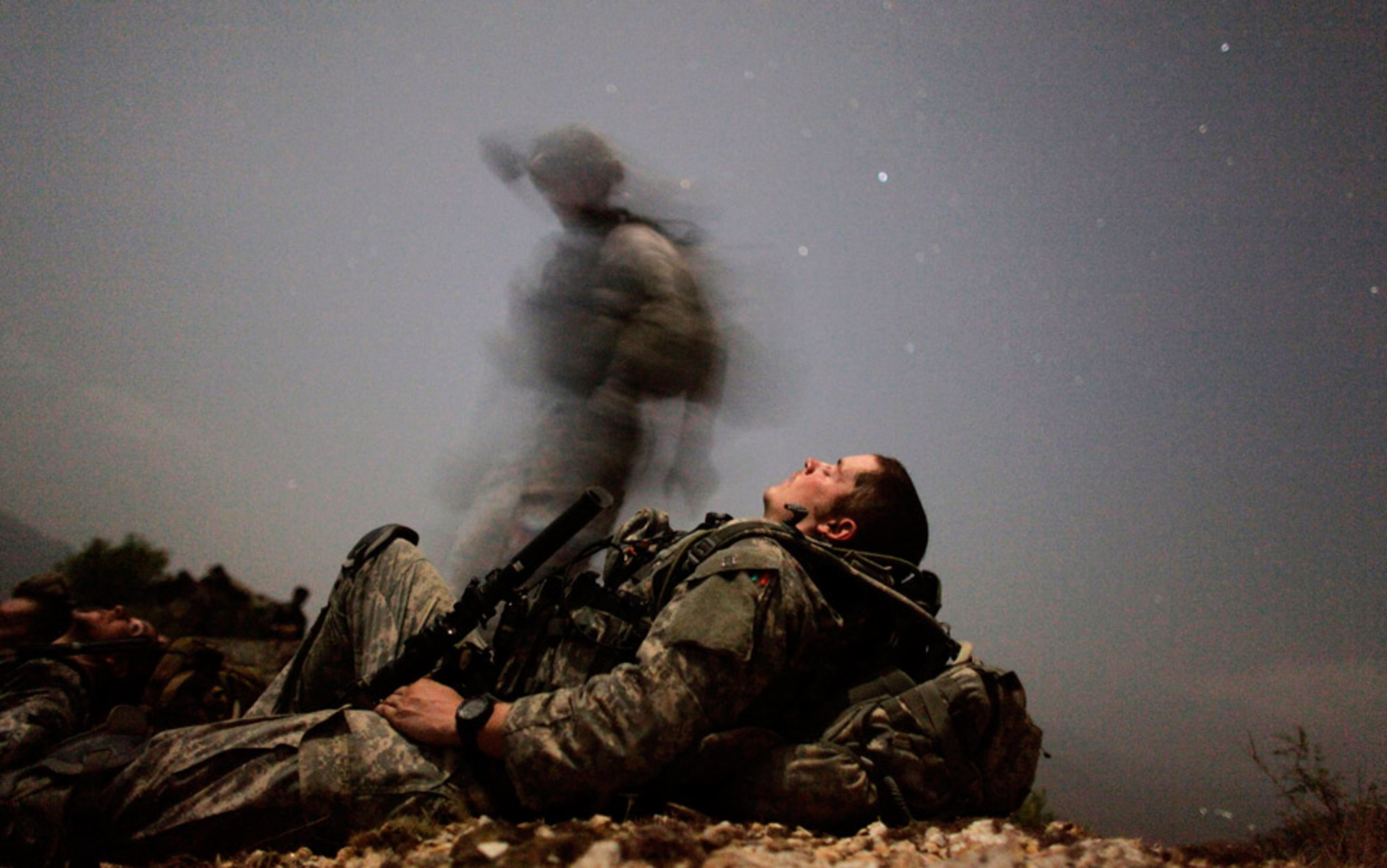 Header sleeping soldier
