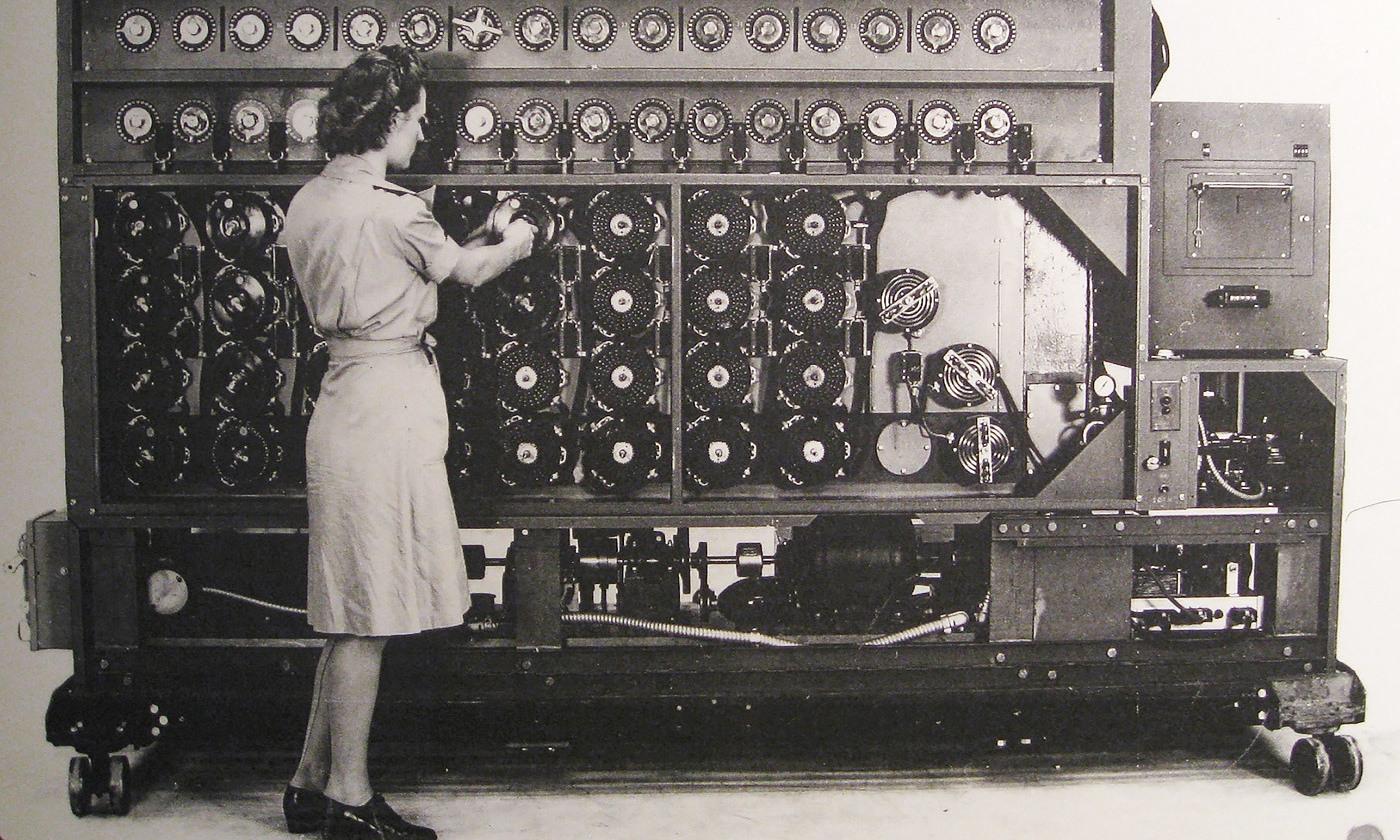 Aha! The US Navy Bombe deciphering device. <em>Photo courtesy Brewbooks/US Navy/Flickr</em>