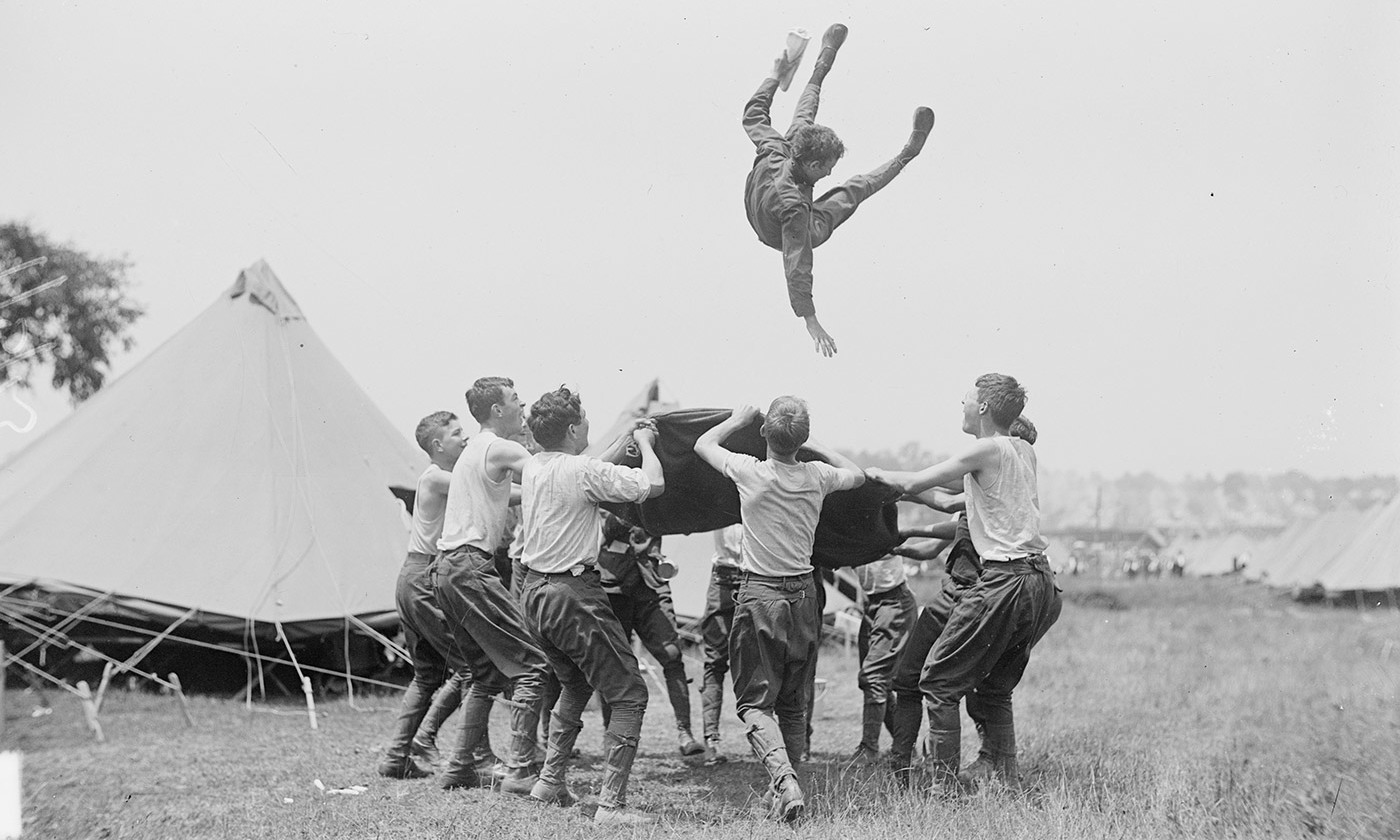 Boy Scouts at Gettysburg, 1913. <em>Courtesy Library of Congress</em>
