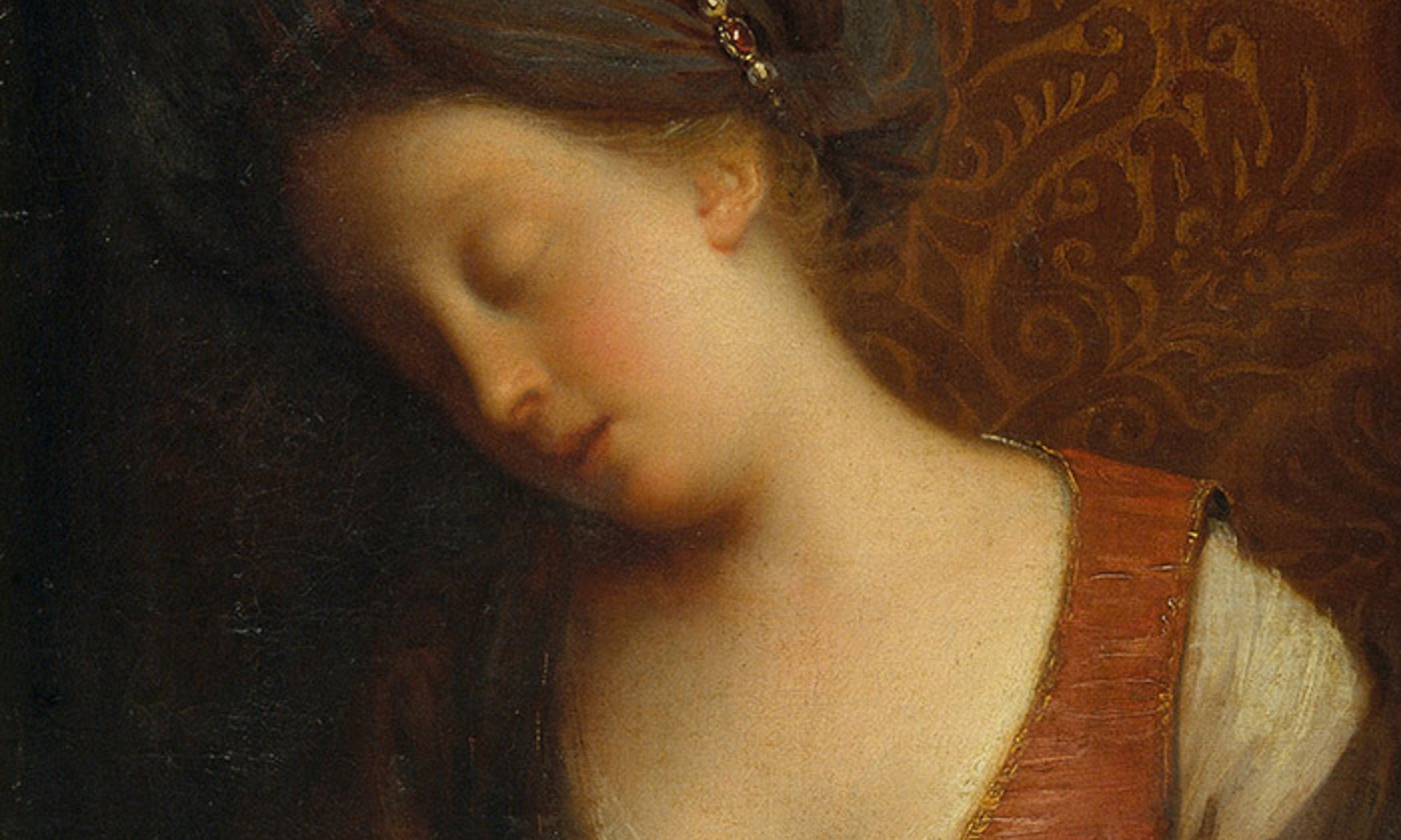 <em>Young Woman Sleeping </em> by Jean-Baptiste Santerre, Museu Nacional d'Art de Catalunya. <em>Courtesy Wikipedia</em>