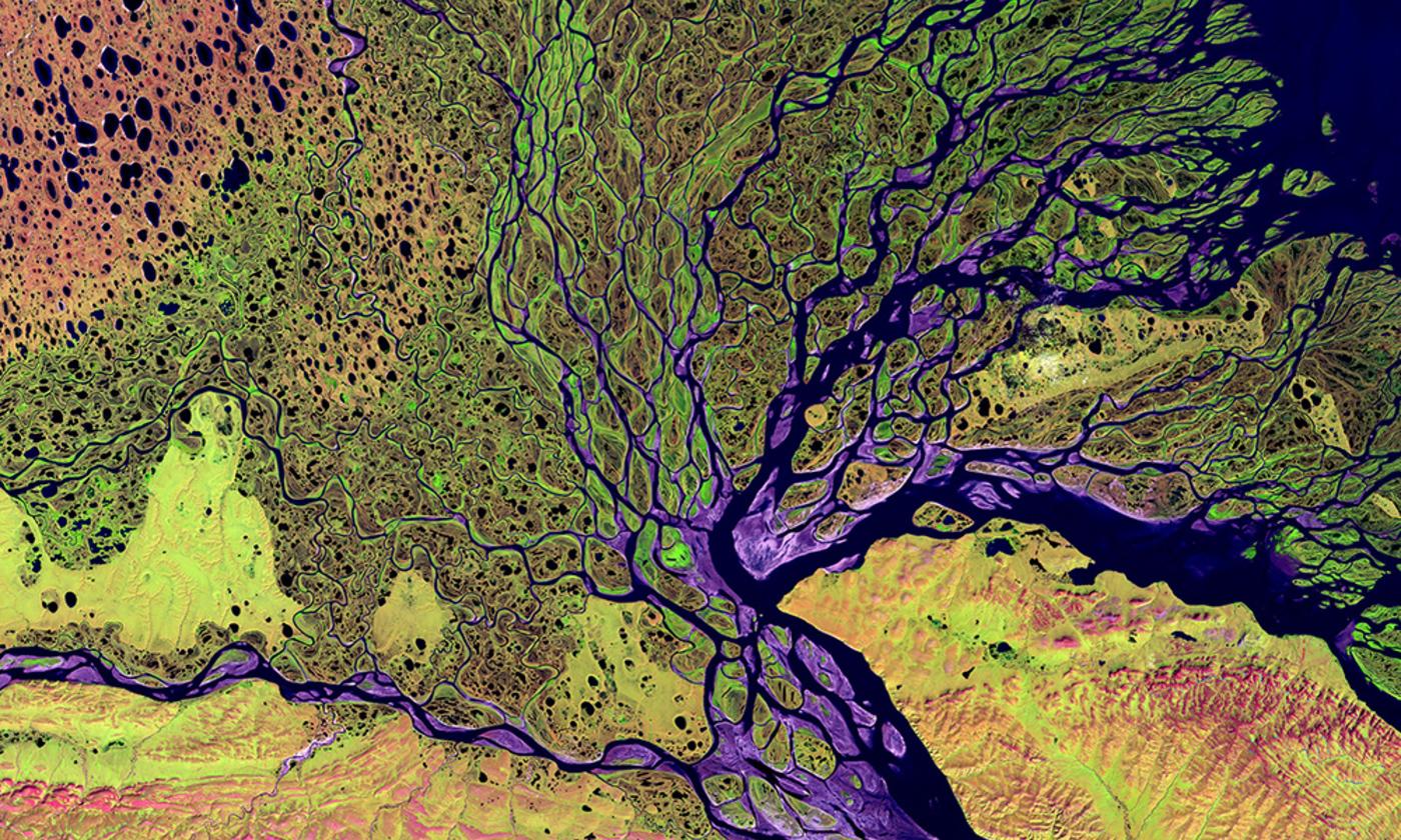 Idea landsat nasa lena river delta   landsat 2000