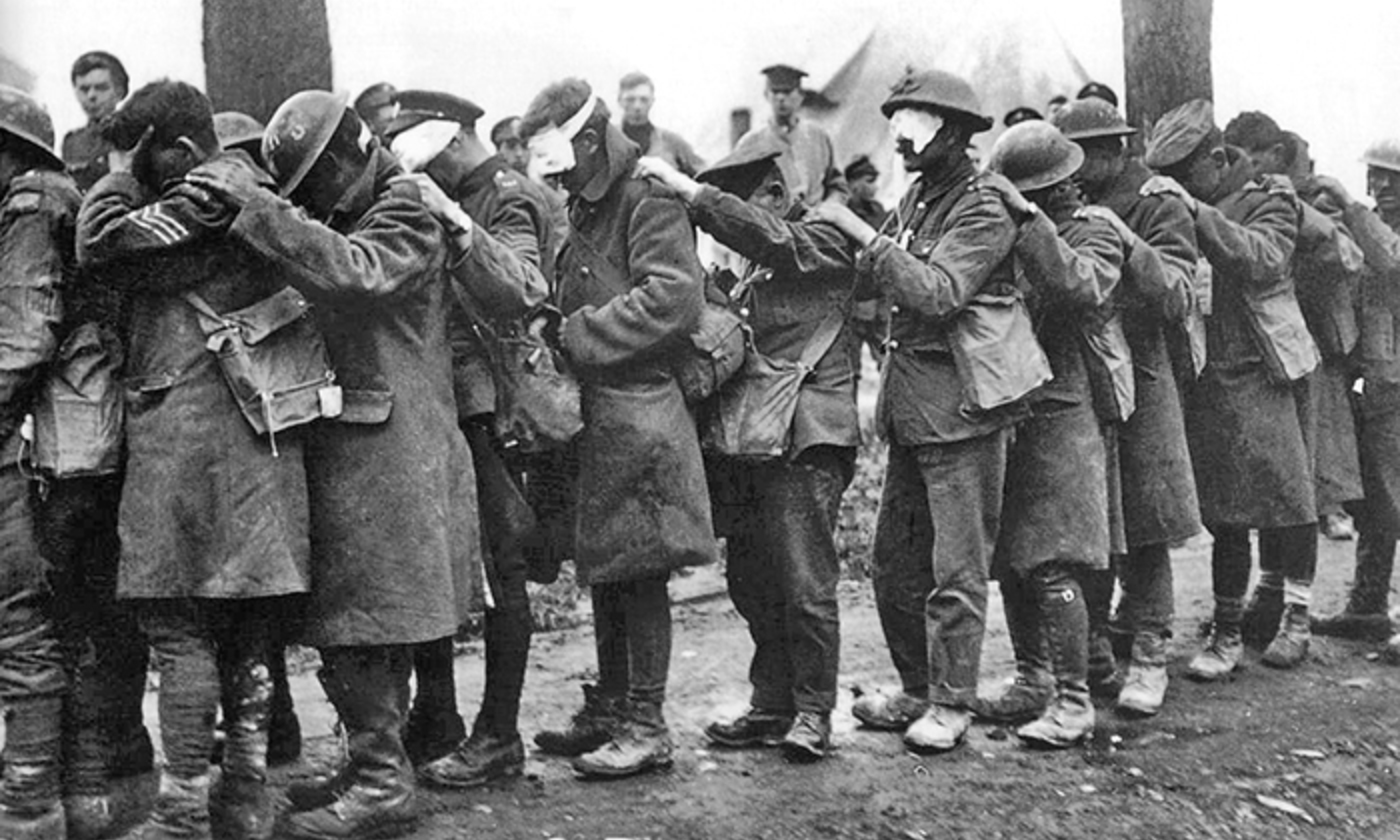 <p>British Army gas casualties, April 1918. <em>Wikipedia</em></p>