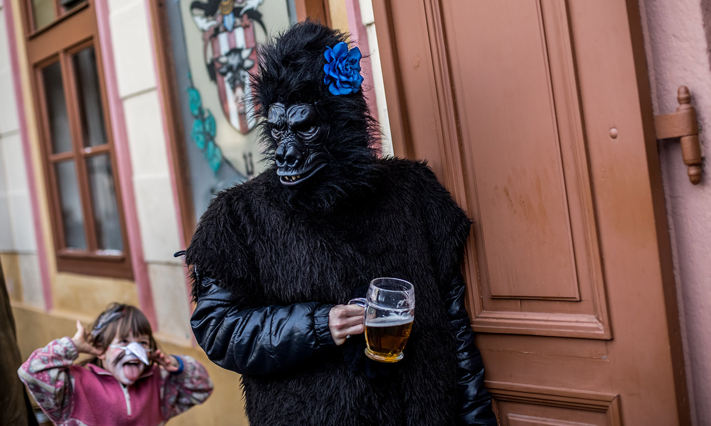 At the Prague carnival. <em>Photo by Matej Divizna/Getty</em>