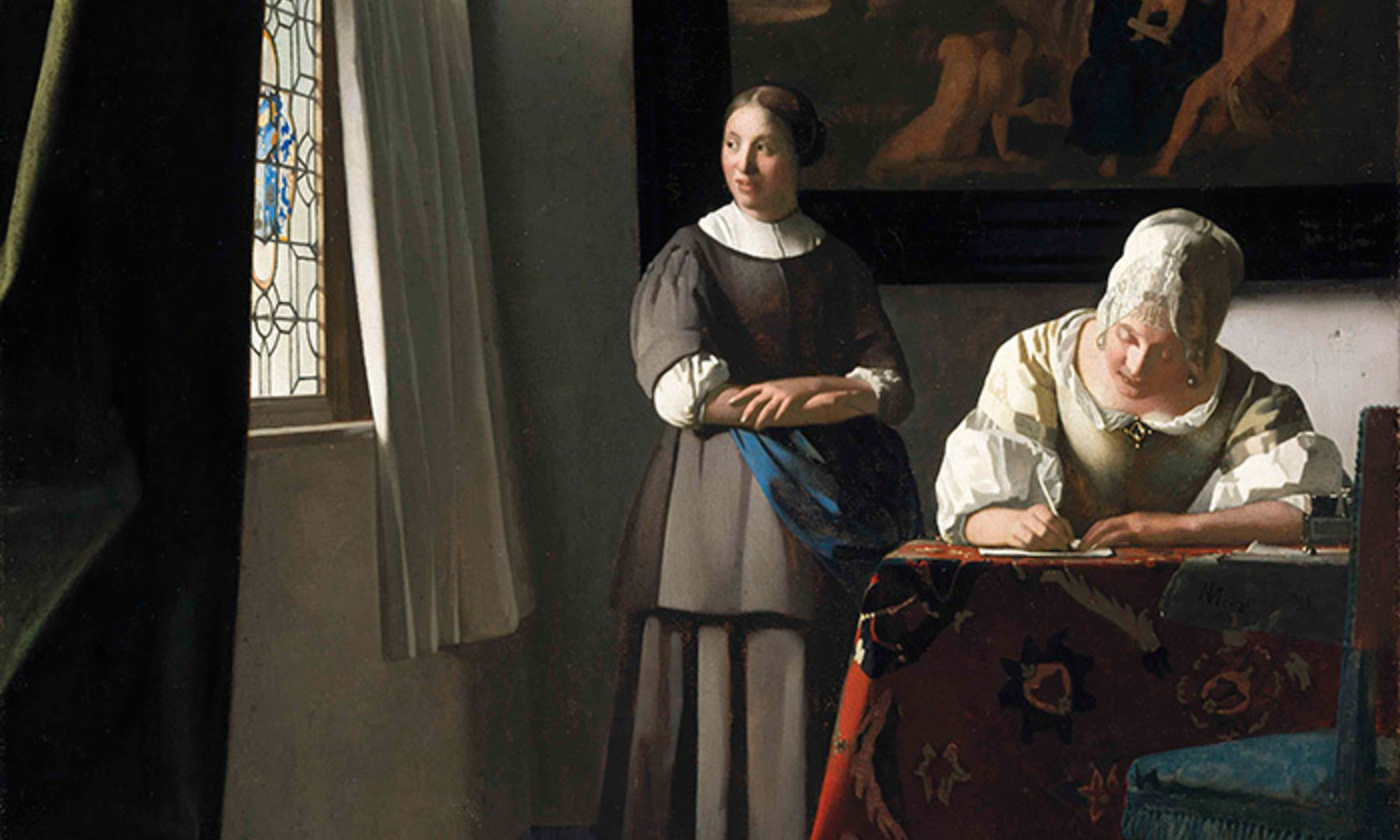 <p>Detail from <em>Lady Writing a Letter with her Maid</em> by Johannes Vermeer <em>c</em>1670-71. <em>Courtesy National Gallery of Ireland/Wikimedia</em></p>