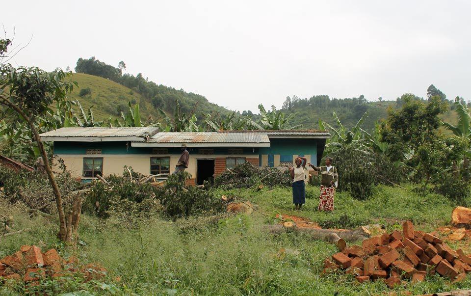Evelyn Bonabone's home in rural Uganda.