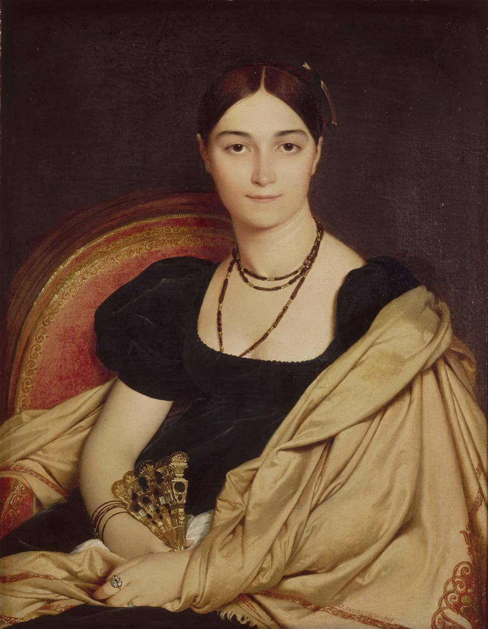 Portrait of Madame Duvaucey by Jean Auguste Dominique Ingres, 1807. Musée Condé, Chantilly. Photo by Getty